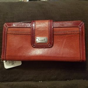 Fossil Red Wallet NEW